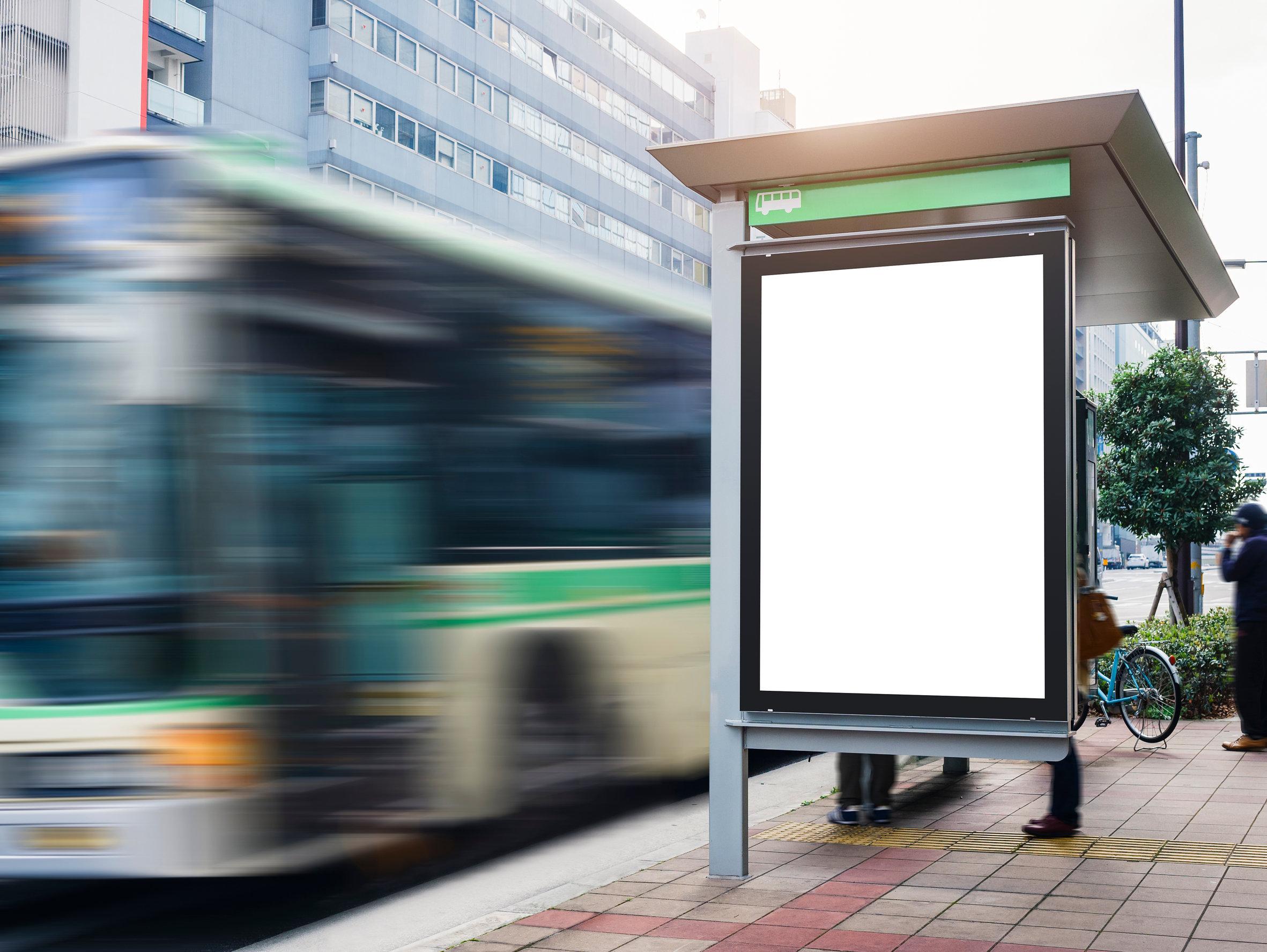 バス停サイネージ123RF
